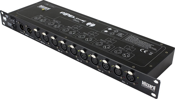 1U rack mount DMX Splitter
